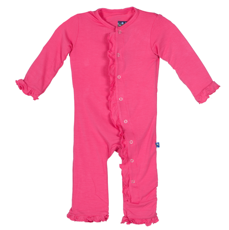 Winter Rose Ruffle Coverall