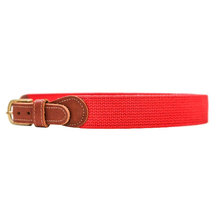 Red Canvas Buddy Belt