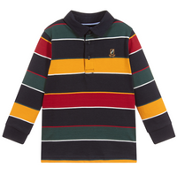 Classic Striped Long Sleeve Polo