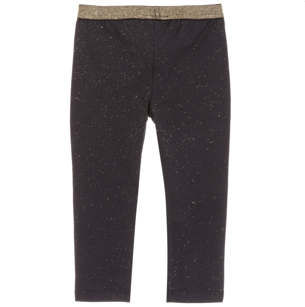 Black & Gold Sparkle Leggings