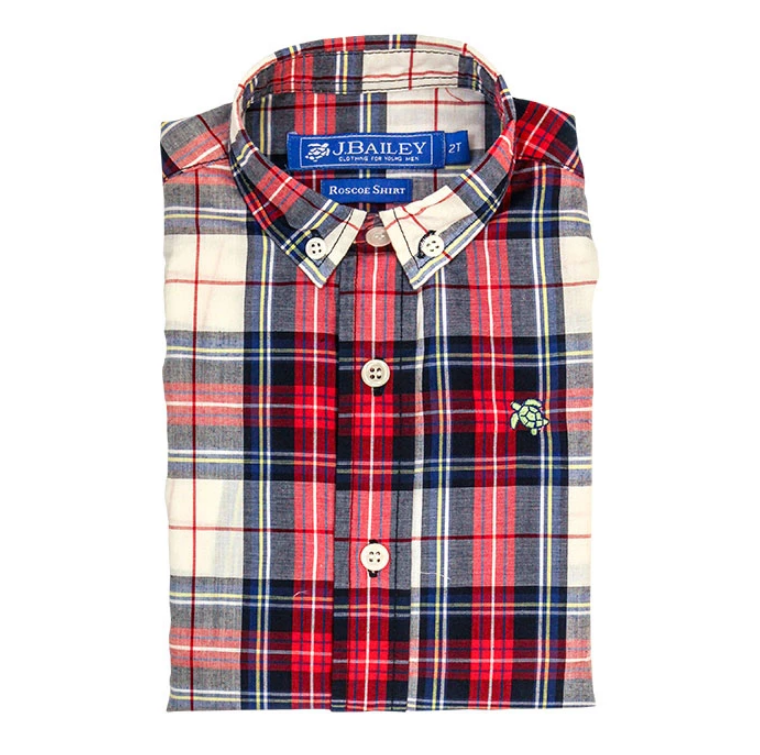 Roscoe Button Down Shirt - Shaw Plaid