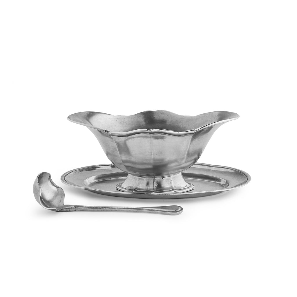 Tavola Gravy Boat with Tray and Ladle