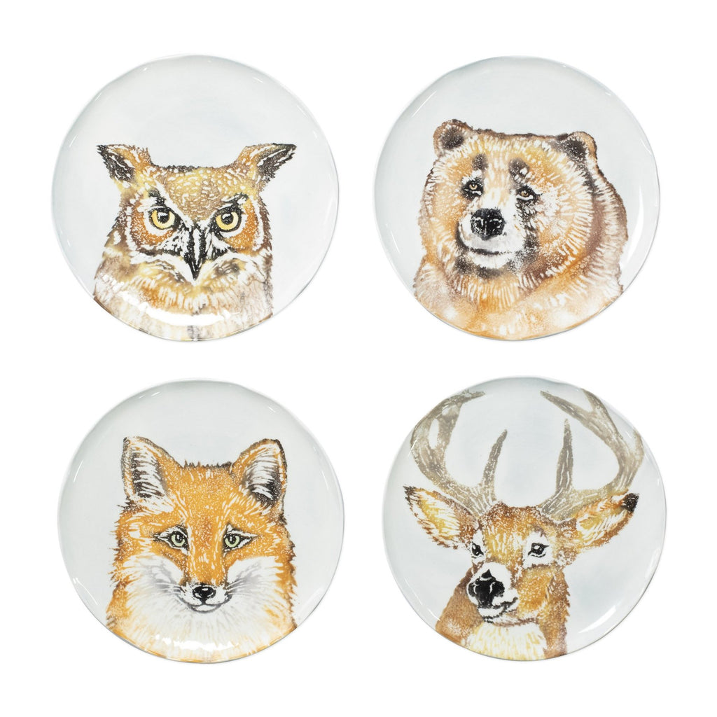 Into The Woods Assorted Salad Plates - Set of 4