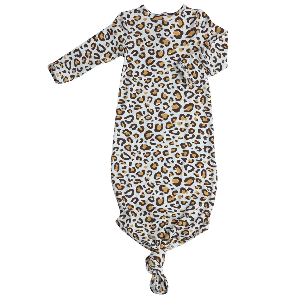 Leopard Knotted Gown