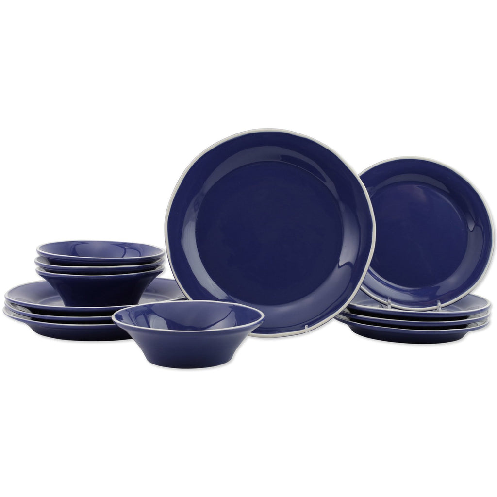 Chroma Blue 12-Piece Place Setting