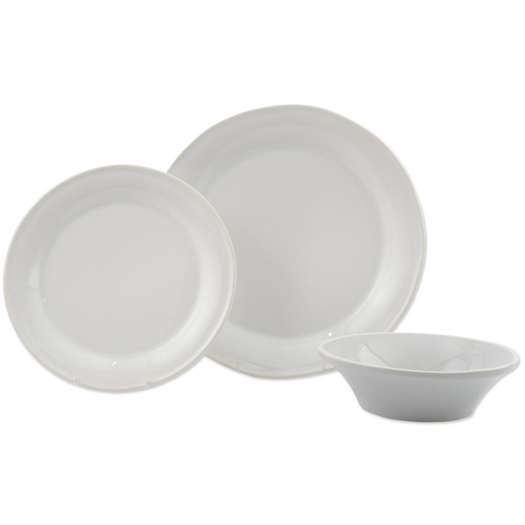 Chroma White 3 Piece Place Setting