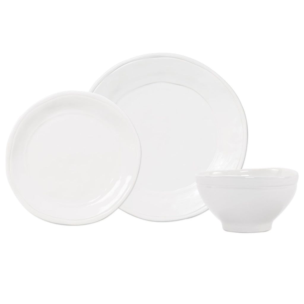 Fresh White 3 pc. Place Setting