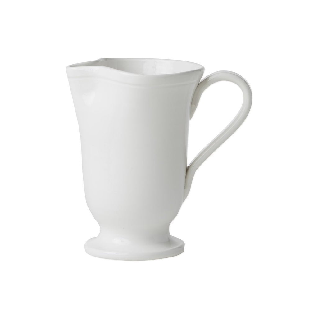 Fresh White Large Footed Pitcher