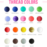 Embroidery Thread Color Options