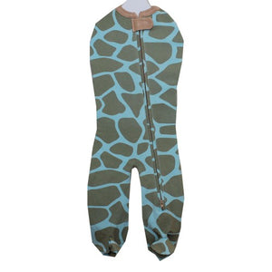 Woombie - Blue Giraffe Leggies Sleeper - kkgvingtree - K&K's Giving Tree