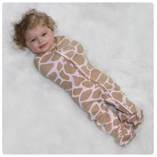 Woombie - Pink Giraffe Leggies Sleeper - kkgvingtree - K&K's Giving Tree