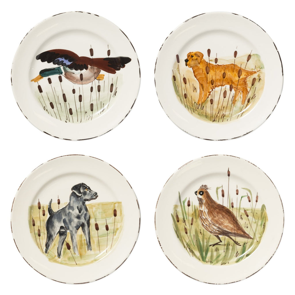 Wildlife Assorted Dinner Plates - Set of 4