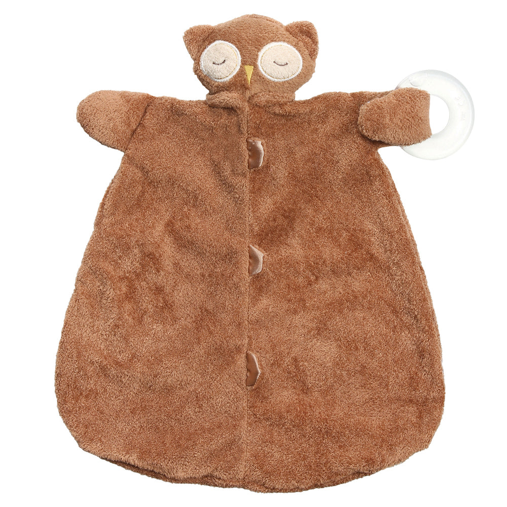 kkgivingtree - Brown Owl Teether Blankie - K&K's Giving Tree
