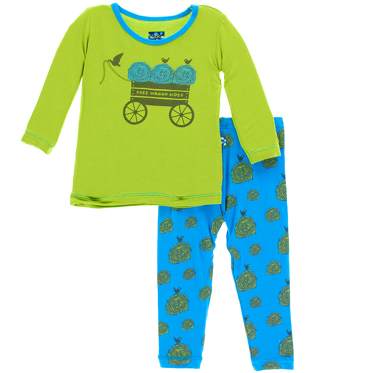 KicKee Pants River Hay Bales Long Sleeve Pajama Set - kkgivingtree