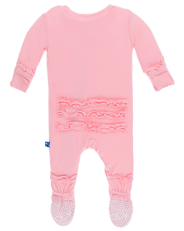 Lotus Classic Ruffle Footie w/ Snaps