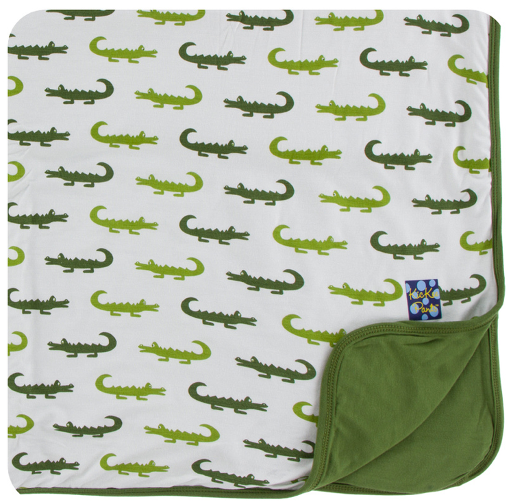 Natural Crocodile Toddler Blanket