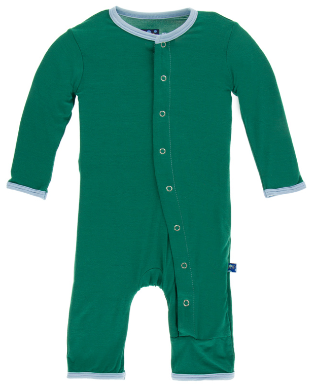 Shady Glade w/ Pond Trim Coverall w/ Snaps