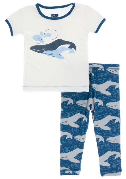 Twilight Whale Short Sleeve Pajama Set