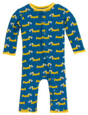 Twilight Pretzel Pup Coverall w/ Snaps