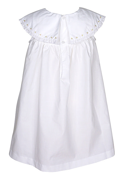 Sophie & Lucas - White Dress w/ Embroidery - kkgivingtree - K&K's Giving Tree - Sohpie and Lucas