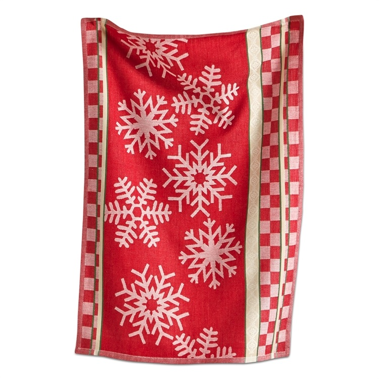 Snowflake Jacquard Cotton Dishtowel