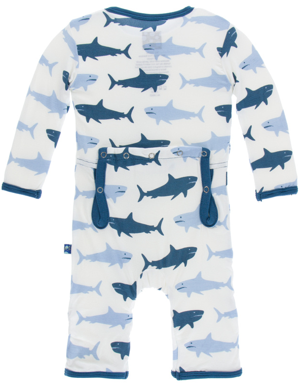 Natural Megalodon Coverall w/ Snaps