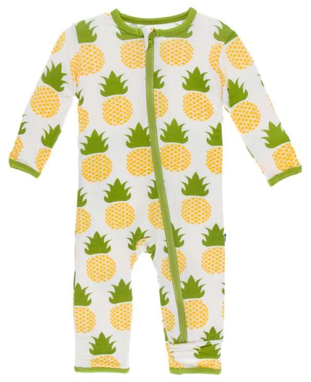 Natural Pineapple Coverall w/ Zipper