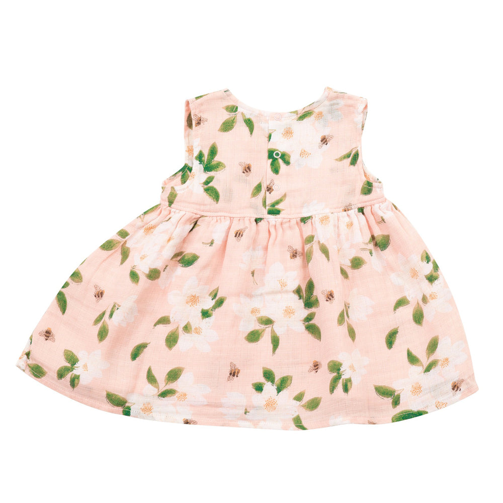 Pink Magnolias Dress with Bloomers