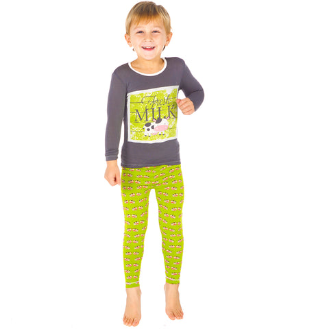 KicKee Pants Meadow Cow Long Sleeve Pajama Set - kkgivingtree