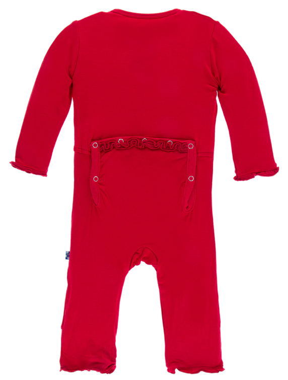 Balloon Muffin Ruffle Coverall w/ Snaps