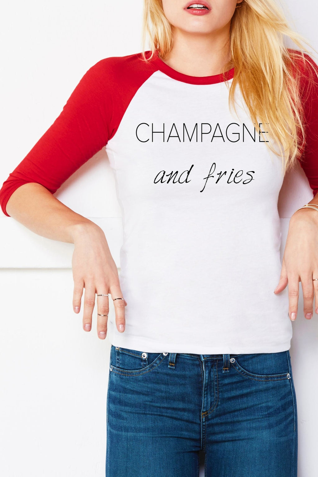 Champagne and Fries Tee - Adult