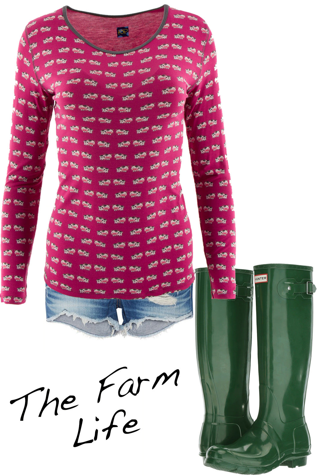 KicKee Pants Berry Cow Loosey Goosey Tee - kkgivingtree - Hunter Boots