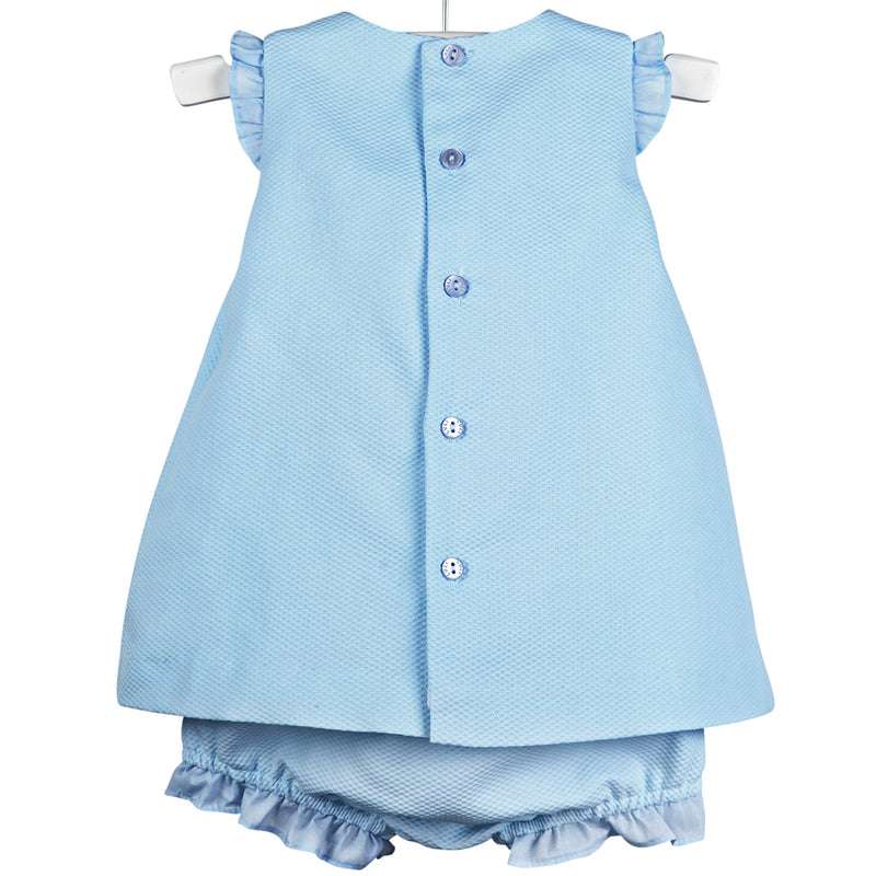 Luli & Me Baby Blue Dress - Back