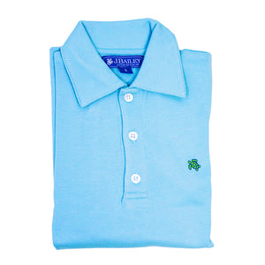 Bailey Boys - Blue Jay Short Sleeve Polo - kkgivingtree - K&K's Giving Tree