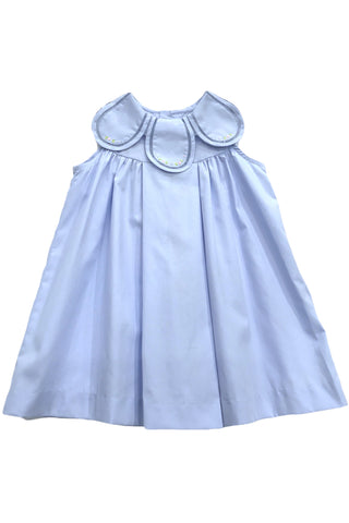 Sophie and Lucas - Blue Petal Dress w/ Embroidery - kkgivingtree