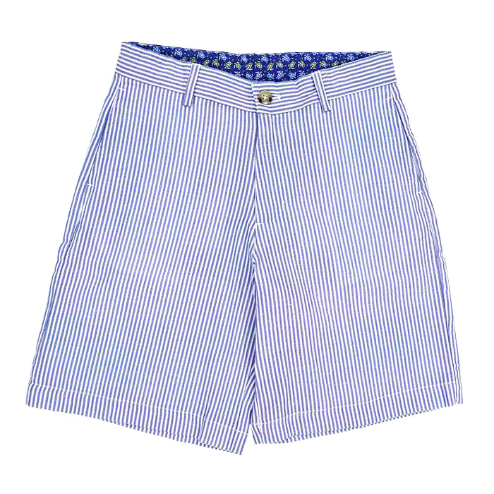 Sailor Blue Stripe Seersucker Shorts