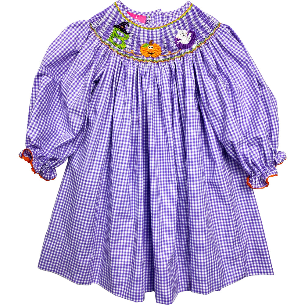 Smocked Boo Bishop Dress