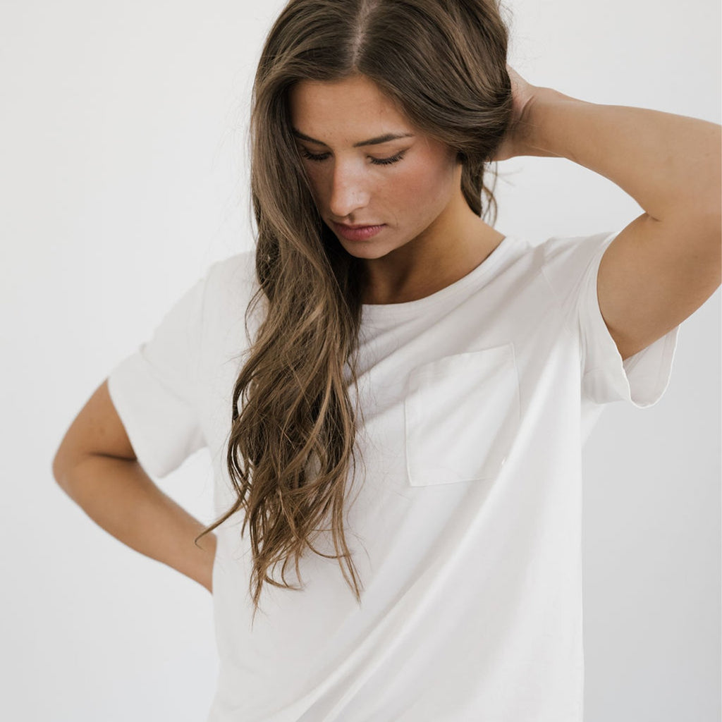 Bamboo Stretch-Knit Lounge Tee