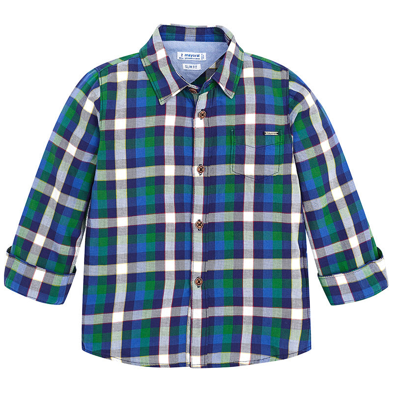 Blue & Dill Plaid Long Sleeve Button Down Shirt