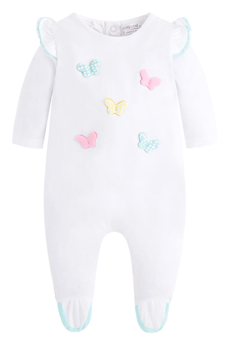 Mayoral - Butterfly Footie - Baby girl onesie - kkgivingtree - K&K's Giving Tree