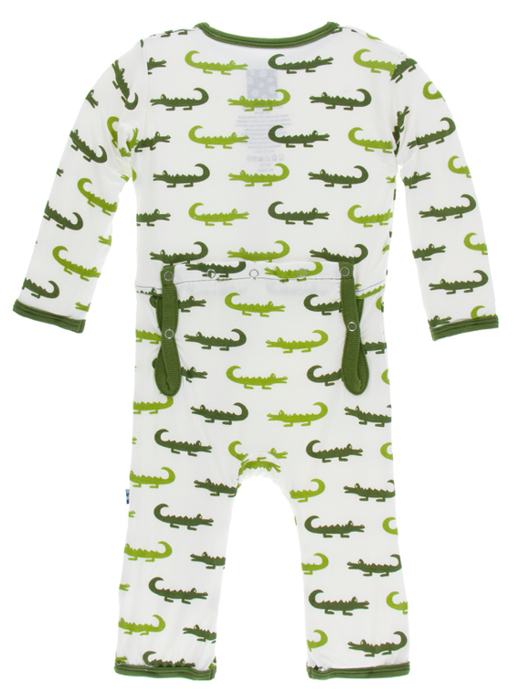 Natural Crocodile Coverall w/ Snaps