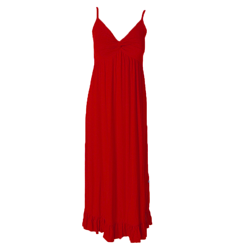 Crimson Ruffle Nightgown