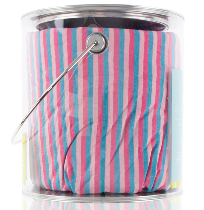 Flamingo Anniversary Stripe Fitted Crib Sheet