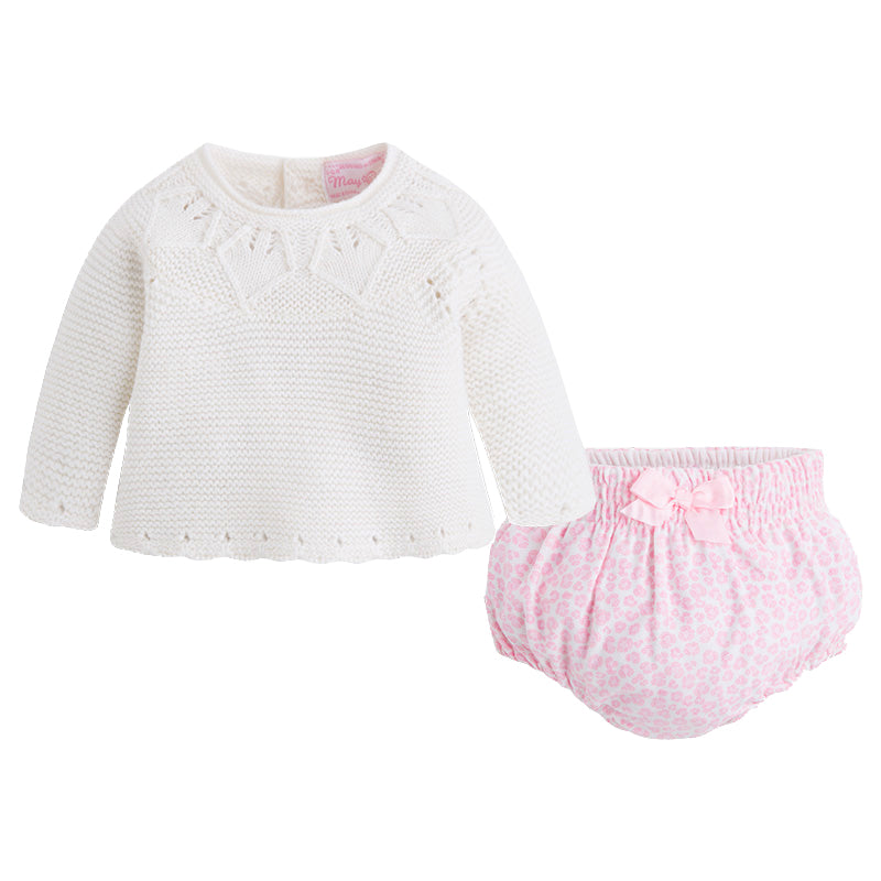 Ivory Sweater & Leopard Bloomer Set