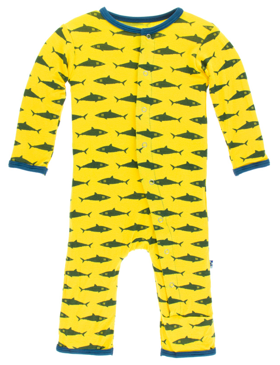 Lemon Shark Coverall w/ Snaps