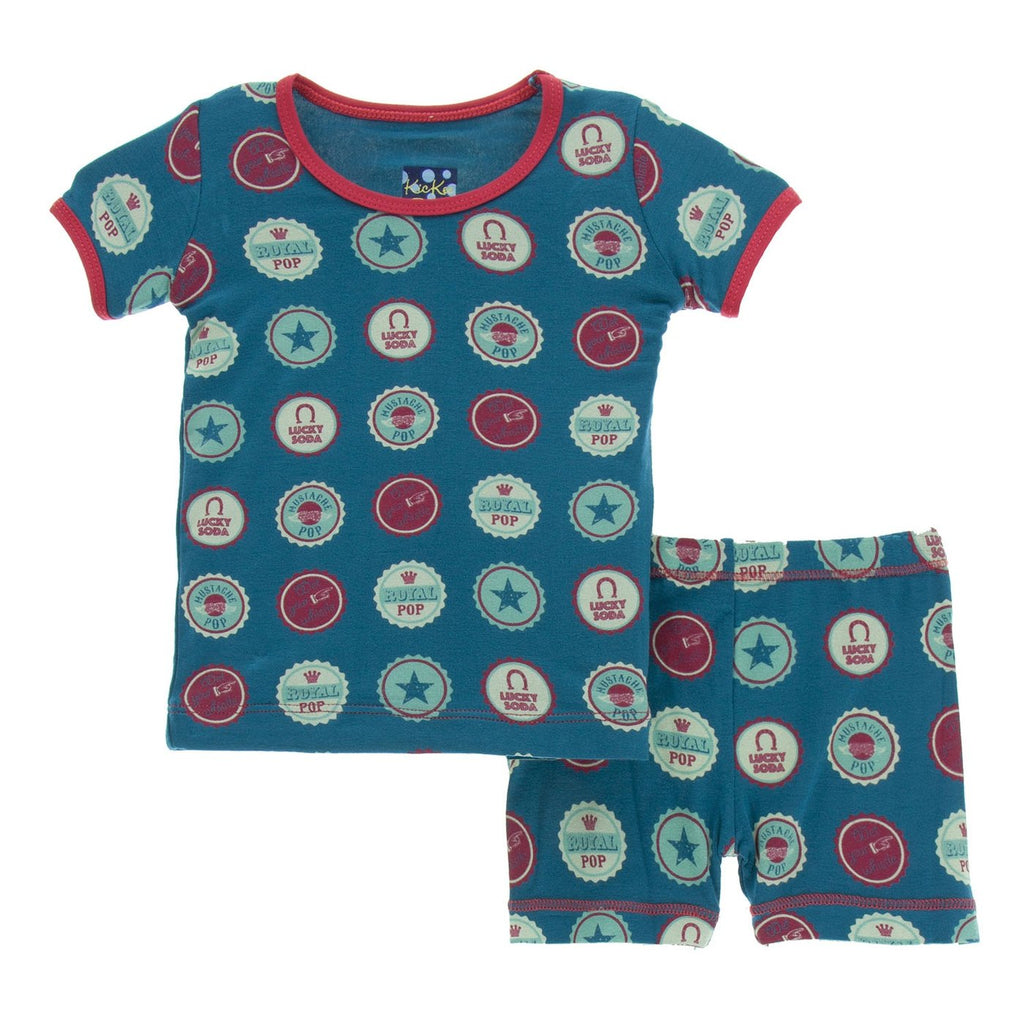 Soda Pop Caps Short Sleeve Pajama Set with Shorts