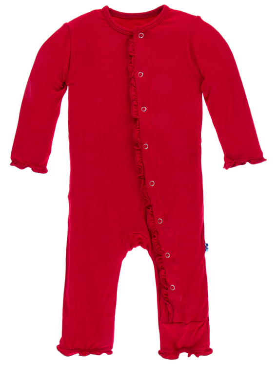 Balloon Classic Ruffle Coverall w/ Snaps
