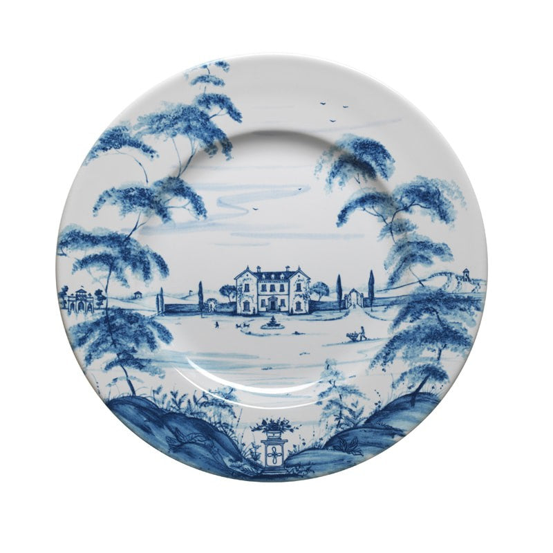 Country Estate Delft Blue Dinner Plate Main House