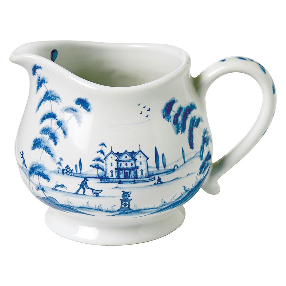 Country Estate Delft Blue Creamer Main House
