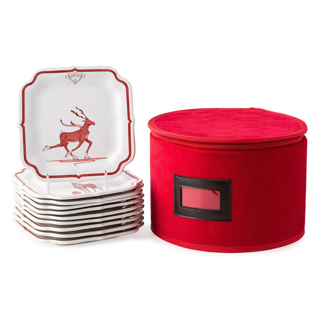 Country Estate Reindeer Games Party Plates Set/10